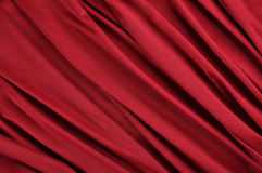 Red satin fabric. Background of red satin fabric Royalty Free Stock Photos
