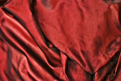 Red satin fabric. Full frame of beautiful red satin fabric Royalty Free Stock Photography