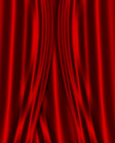 Red Satin fabric background Royalty Free Stock Photos