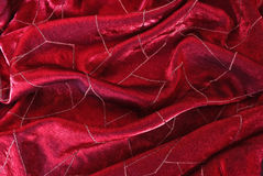 Red satin fabric with bright lines Royalty Free Stock Images