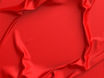 Red satin fabric or silk abstract background. 3d render illustration Stock Image