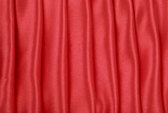 Red Satin Folds Background Stock Photography