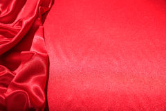 Red satin full background. Red satin textile full background Royalty Free Stock Image