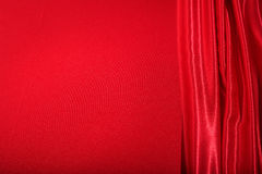 Red satin full background. Red satin textile full background Stock Image