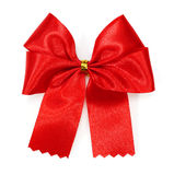Red satin gift bow Stock Photography