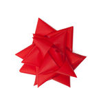 Red satin gift bow Stock Image