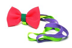 Red satin gift bow Royalty Free Stock Photo