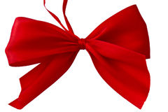 Red satin gift ribbon Stock Photo