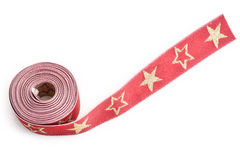 Red satin gift ribbon Royalty Free Stock Photography
