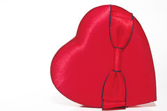 Red Satin Heart with Bow Stock Photos