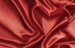 Red satin heart Stock Images