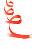 Red satin ribbon Royalty Free Stock Image