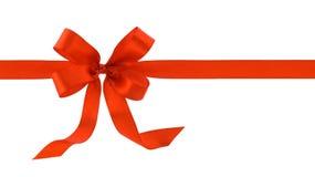 Red satin ribbon Stock Photo