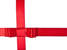 Red satin ribbon Royalty Free Stock Images