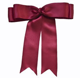 Red satin ribbon and bow Stock Image