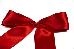 Red Satin Ribbon Bow Royalty Free Stock Image