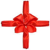 Red satin ribbon and bow Royalty Free Stock Images