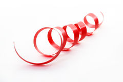 Red satin ribbon isolated Royalty Free Stock Photography