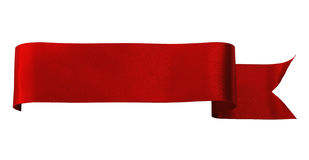 Red satin ribbon Stock Photos