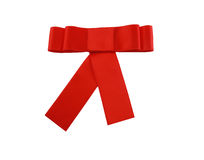 Red satin ribbon Stock Image