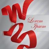 Red satin ribbon. Stock Image