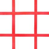 Red satin ribbons on white - set 36 Royalty Free Stock Image
