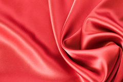 Red satin or silk background Royalty Free Stock Photo