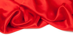Red satin or silk background Stock Photography