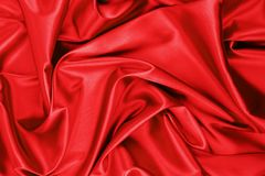 Red satin or silk fabric stock images
