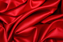 Red Satin Wave. The colour of passion Royalty Free Stock Photos