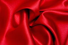 Red Satin Wave. The colour of passion Royalty Free Stock Image