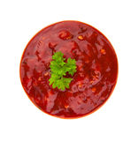 Red sauce isolated on white Stock Photos