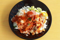 Red sauce pork rice Royalty Free Stock Photography