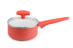Red saucepan Royalty Free Stock Photography