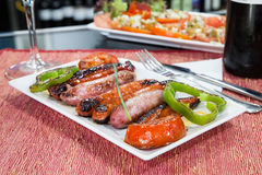 Red sausage Royalty Free Stock Image