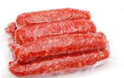 Red sausage of pork Stock Photos