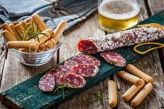 Red sausage Stock Image
