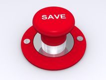 Red save button Stock Image