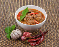 Red savory curry with pork. ( Pork Paneang ), Thai cuisine Royalty Free Stock Images