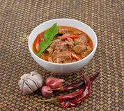 Red savory curry with pork. ( Pork Paneang ), Thai cuisine Royalty Free Stock Photo