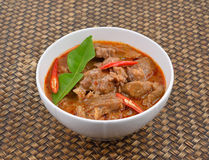 Red savory curry with pork , Thai cuisine Royalty Free Stock Photography