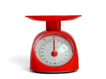 Red scale. Isolate red scale measurement empty Royalty Free Stock Images