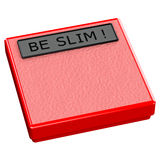 Red scale with words be slim Stock Photo