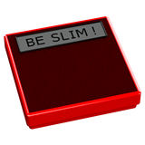 Red scale with words be slim Royalty Free Stock Photo