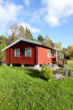 Red scandinavian  summer cottage Royalty Free Stock Image