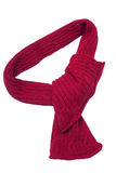 Red scarf. Isolated on white Royalty Free Stock Images