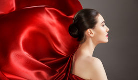 Red scarf Royalty Free Stock Photography