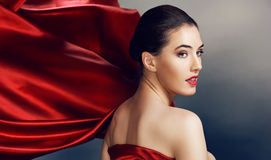 Red scarf Stock Images
