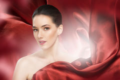 Red scarf Royalty Free Stock Photo