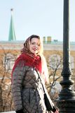 Red scarf . stock photo